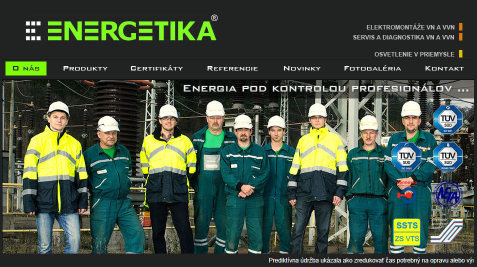 Tvorba web stránok, tvorba eshopu, SEO optimalizácia - www.energetika.sk