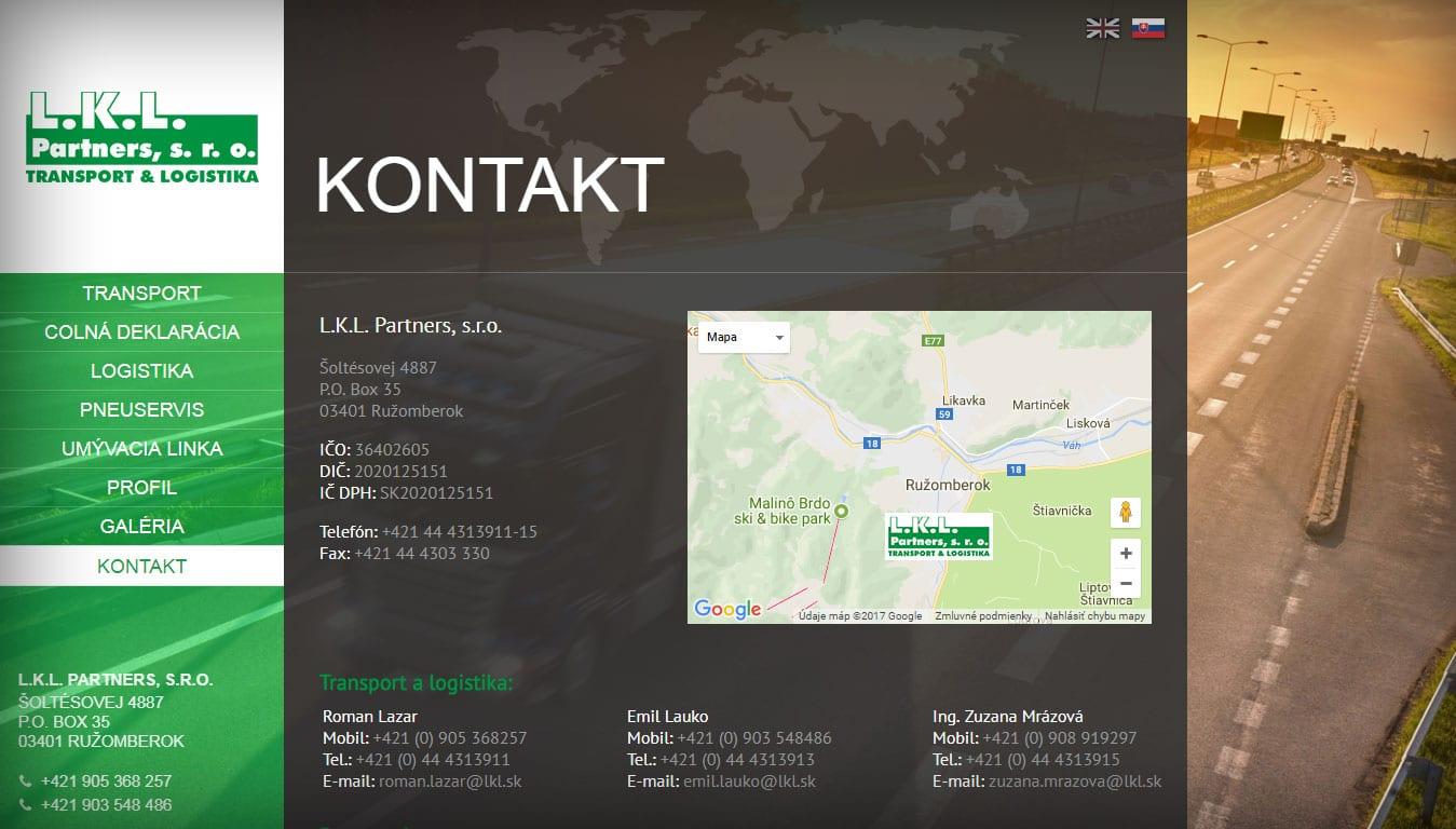 Tvorba web stránok, tvorba eshopu, SEO optimalizácia - www.lkl.sk