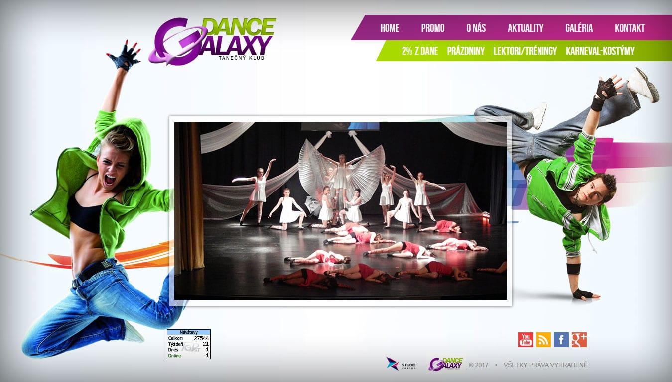 Tvorba web stránok, tvorba eshopu, SEO optimalizácia - www.dancegalaxy.sk