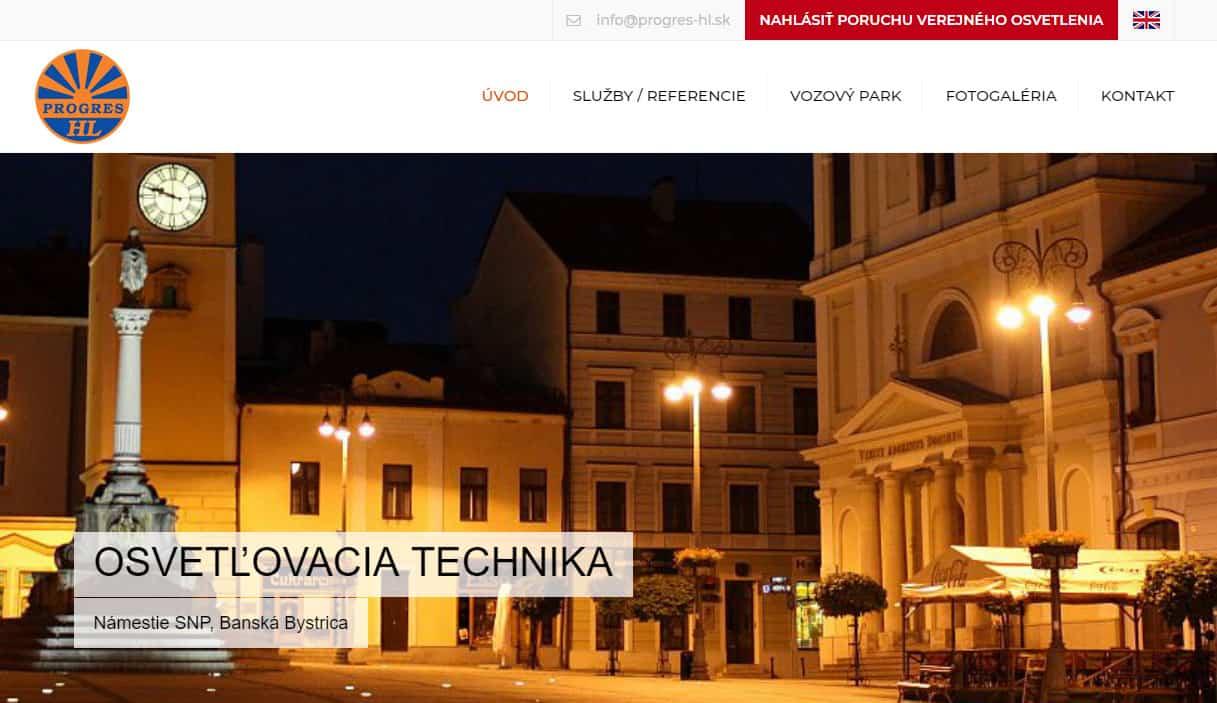 Tvorba web stránok, tvorba eshopu, SEO optimalizácia - www.progres-hl.sk