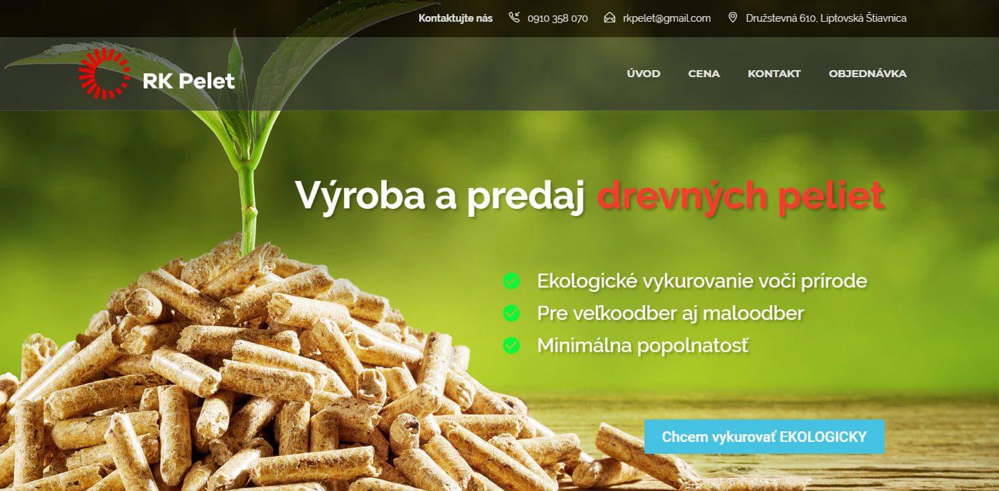 Tvorba web stránok, tvorba eshopu, SEO optimalizácia - www.rkpelet.sk