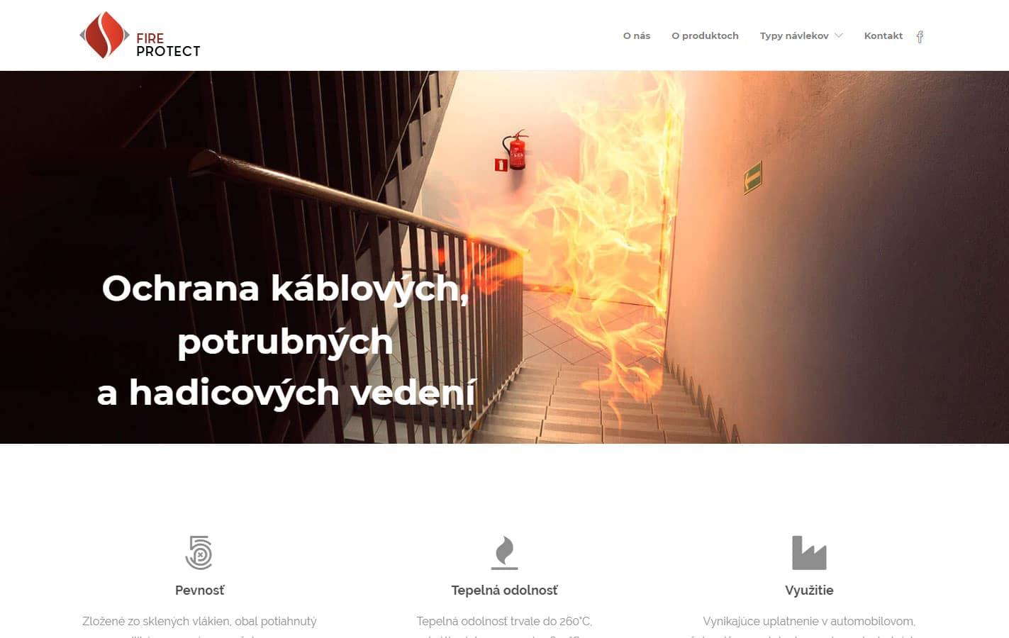 Tvorba web stránok, tvorba eshopu, SEO optimalizácia - www.fireprotect.sk